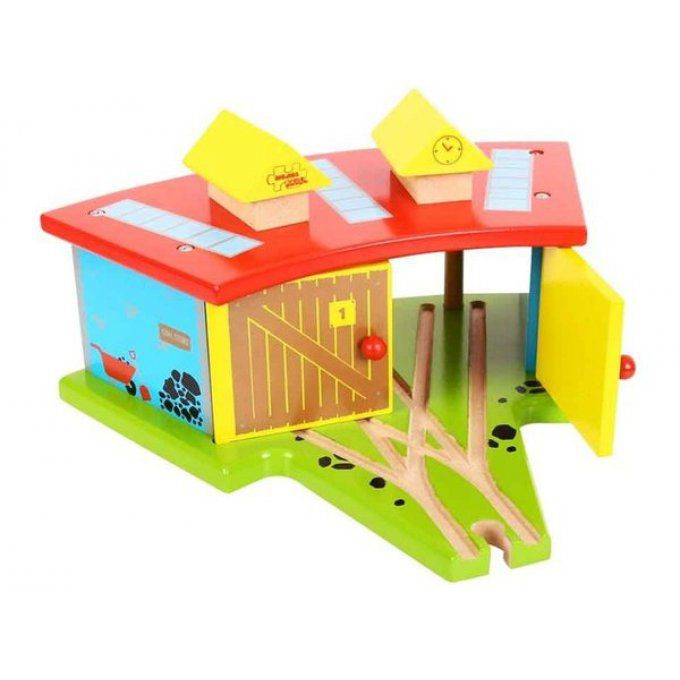 Garage triple de Locomotives en bois